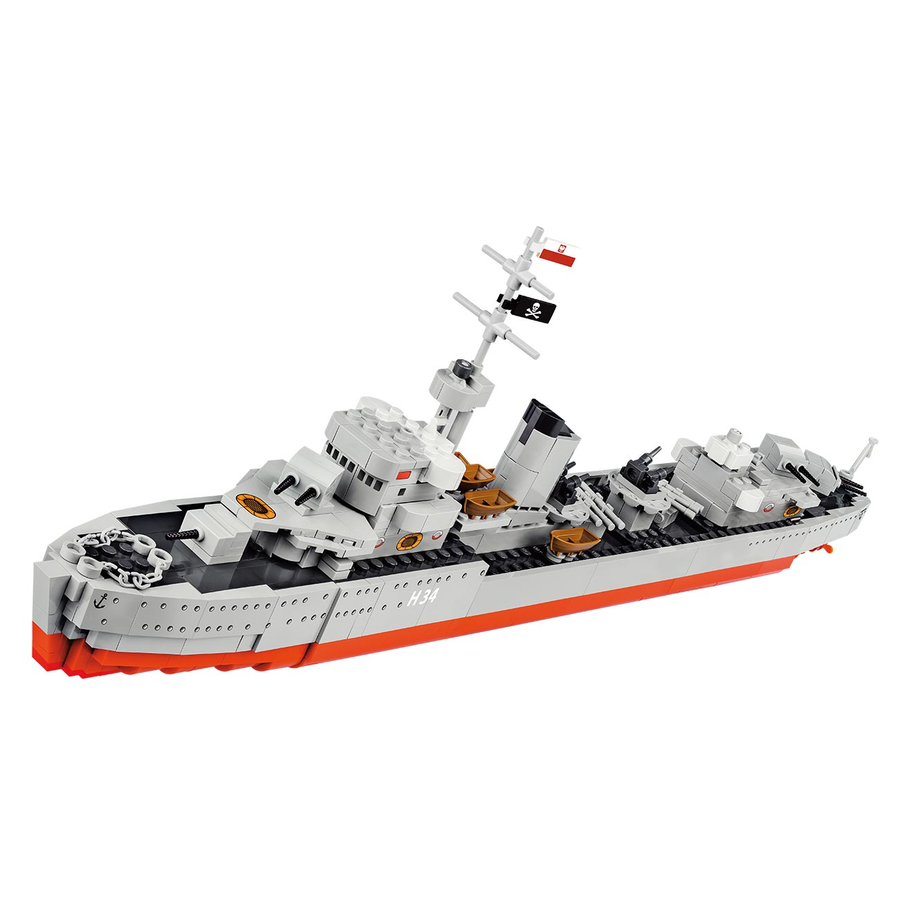 Cobi World of Warships Small Army Bausatz Schiff Orp Blyskawica 680 Teile 3080