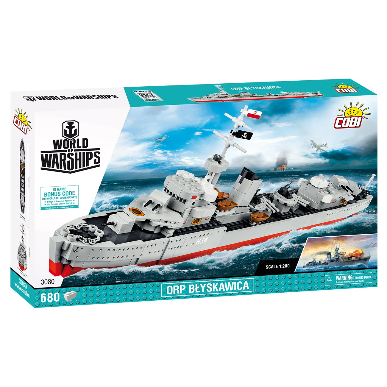 Cobi World of Warships Small Army Bausatz Schiff Orp Blyskawica 680 Teile 3080 1