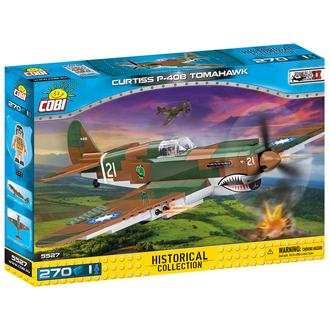 Cobi Historical Collection Bausatz Flugzeug P-40B Tomahawk 270 Teile 5527 1