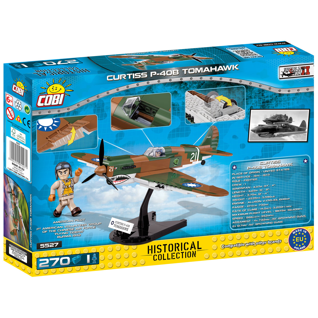 Cobi Historical Collection Bausatz Flugzeug P-40B Tomahawk 270 Teile 5527 2
