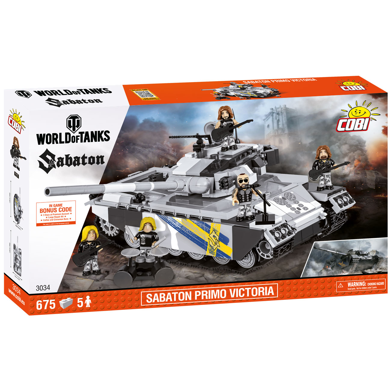 Cobi World Of Tanks Bau Panzer Sabaton Primo Victoria 675 Teile 3034 1