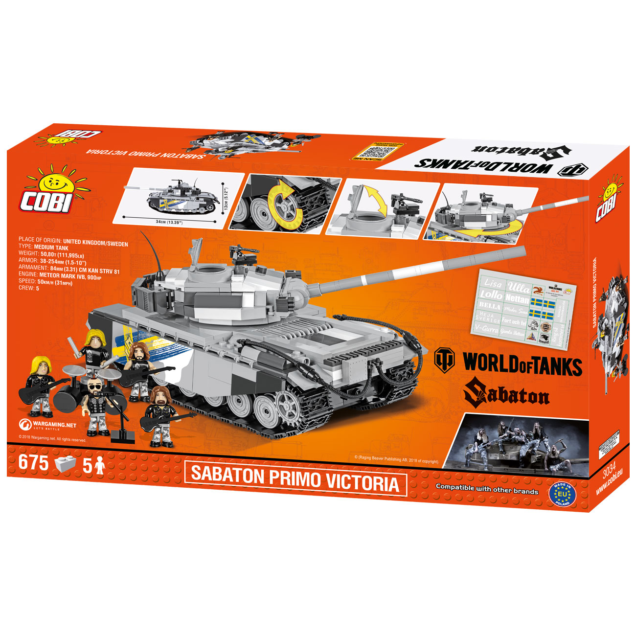 Cobi World Of Tanks Bau Panzer Sabaton Primo Victoria 675 Teile 3034 2