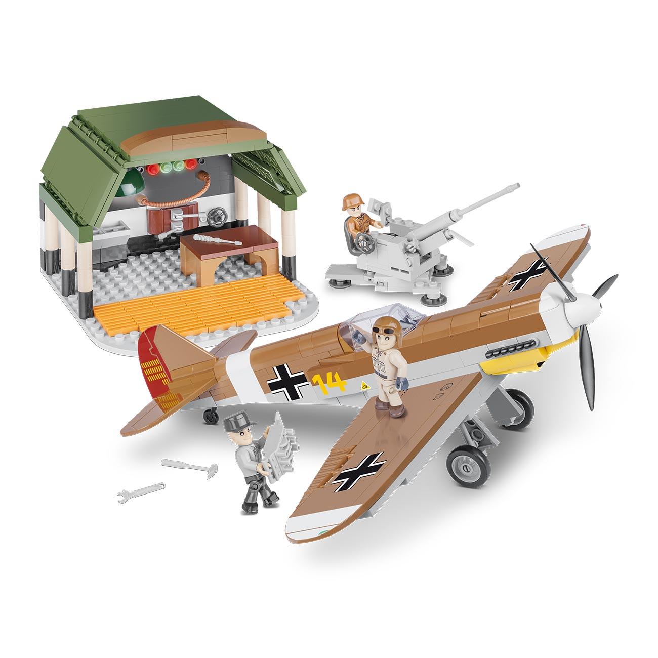 Cobi Historical Collection Bausatz Flugzeug BF 109 African Mission 500 Teile 5544 0