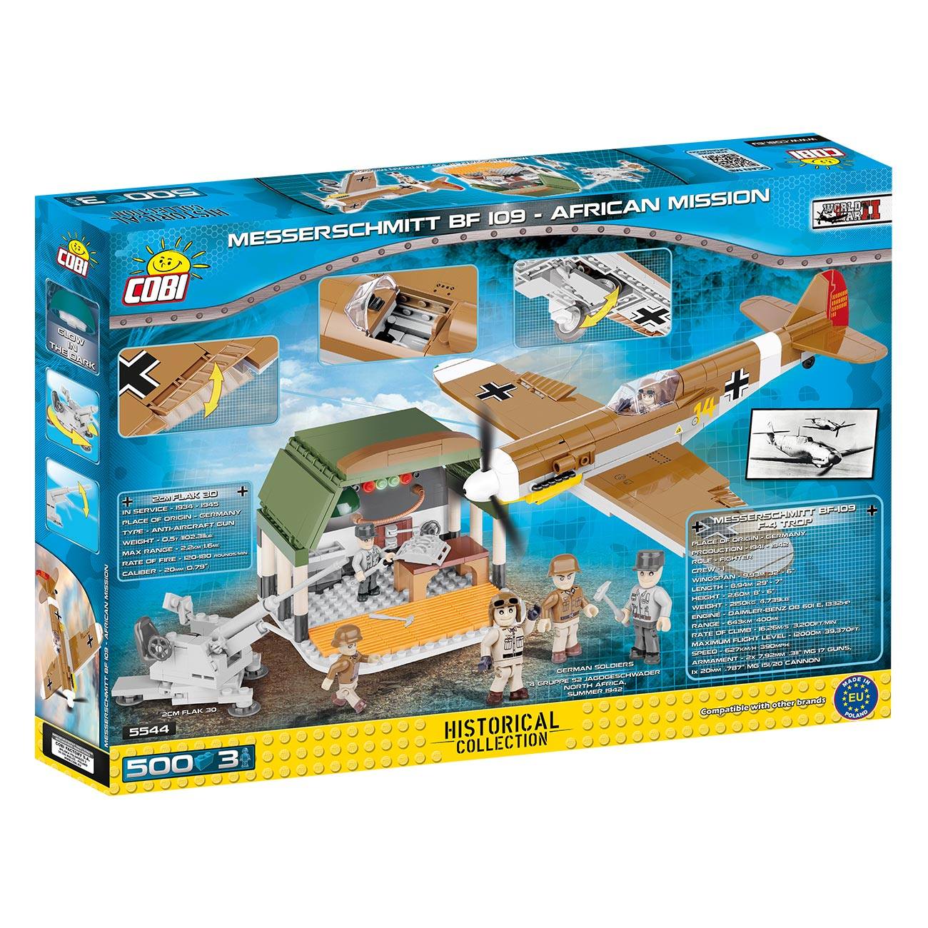 Cobi Historical Collection Bausatz Flugzeug BF 109 African Mission 500 Teile 5544 2