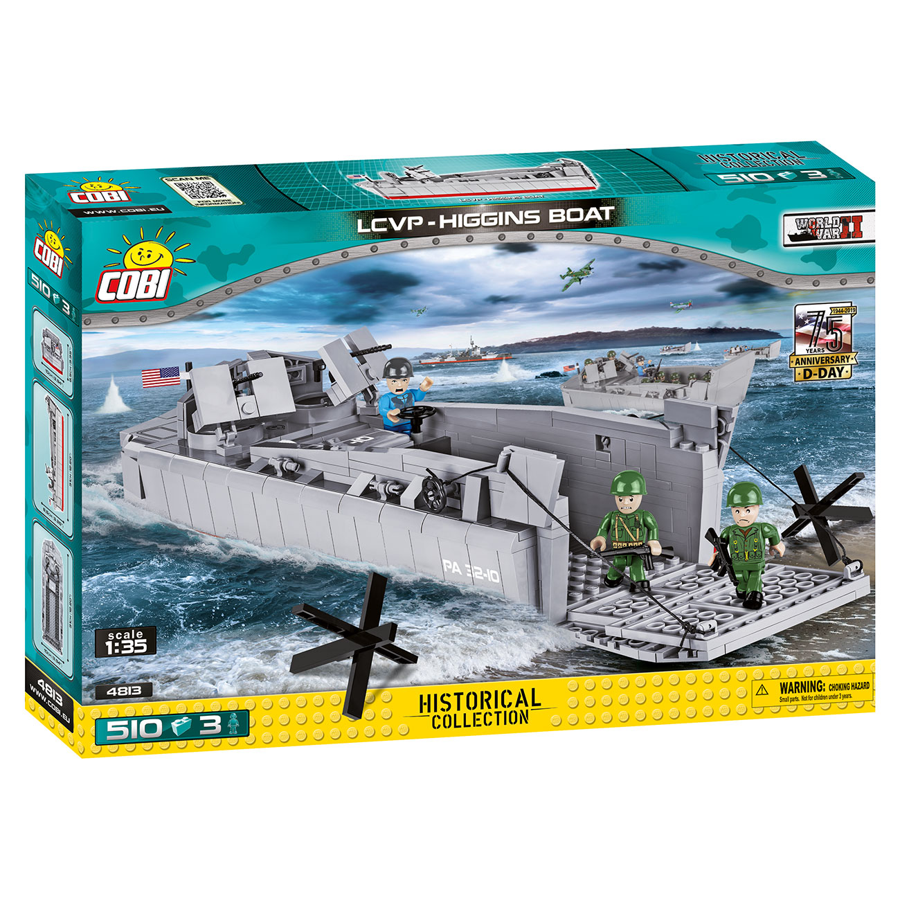 Cobi Historical Collection Bausatz Landungsboot LCVP Higgins Boat 510 Teile 4813 1