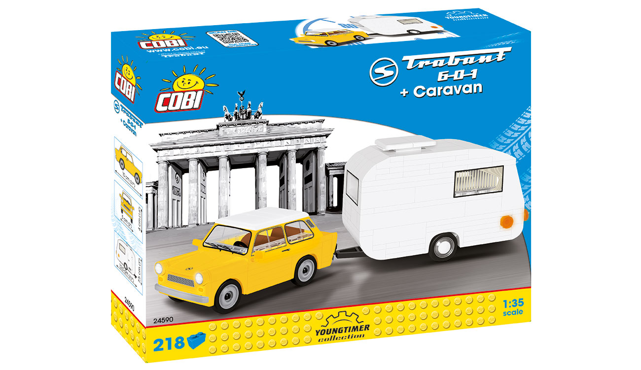 Cobi Youngtimer Collection Trabant 601 mit Caravan 218 Teile 24590 1