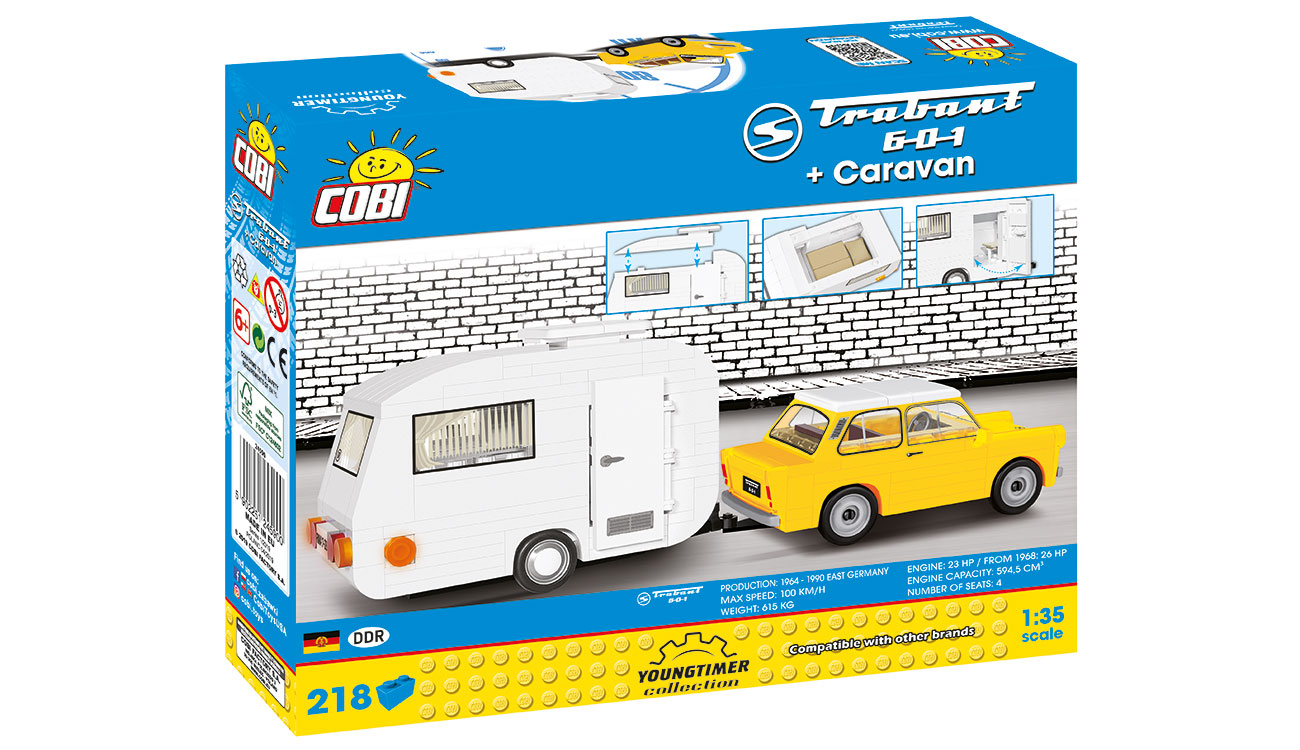 Cobi Youngtimer Collection Trabant 601 mit Caravan 218 Teile 24590 2