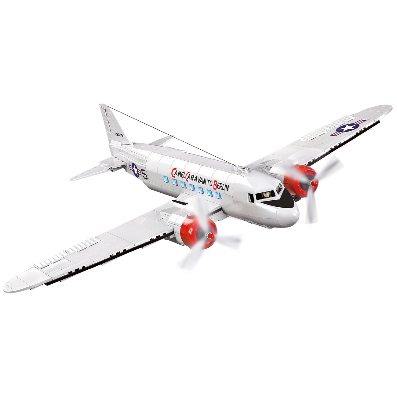 Cobi Historical Collection Bausatz Flugzeug C-47 Skytrain - Berlin Airlift 540 Teile 5702 1
