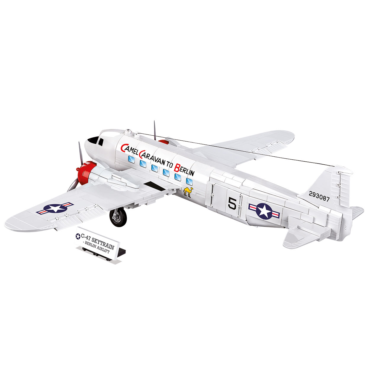 Cobi Historical Collection Bausatz Flugzeug C-47 Skytrain - Berlin Airlift 540 Teile 5702 2