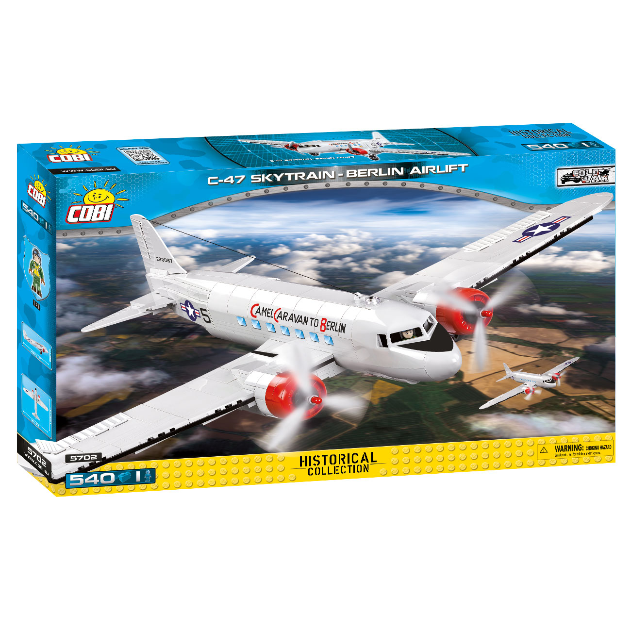 Cobi Historical Collection Bausatz Flugzeug C-47 Skytrain - Berlin Airlift 540 Teile 5702 3