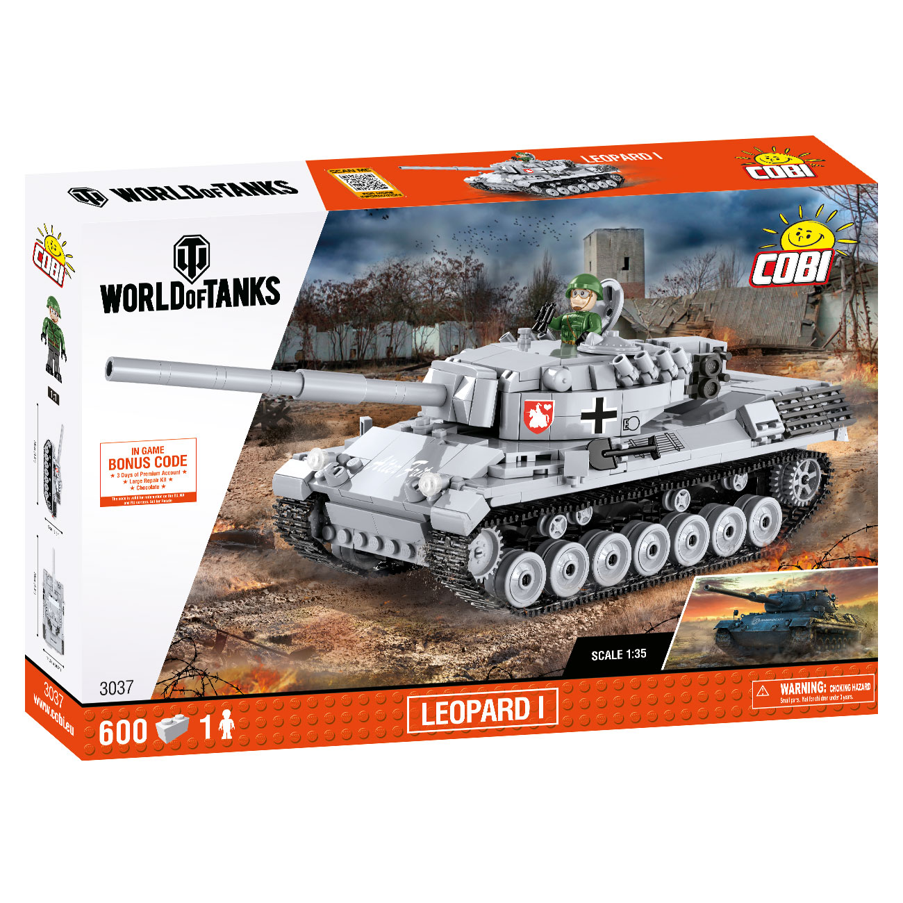 Cobi World Of Tanks Small Army Bausatz Panzer Leopard I 600 Teile 3037 2