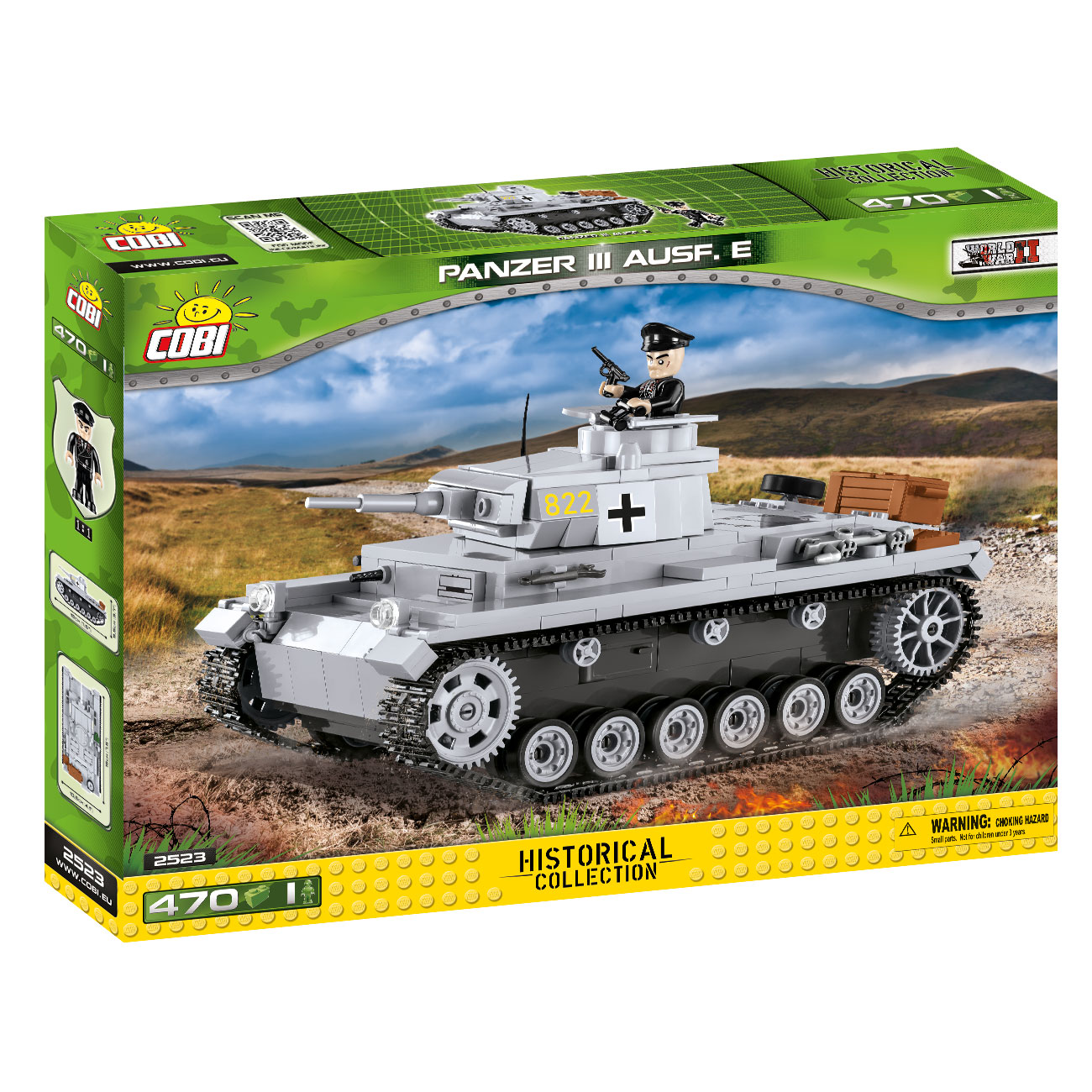 Cobi Historical Collection Bausatz Panzer III Ausf. E 470 Teile 2523 2