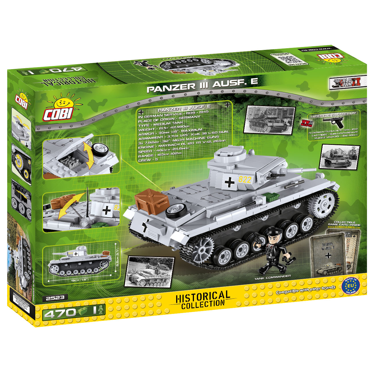 Cobi Historical Collection Bausatz Panzer III Ausf. E 470 Teile 2523 3