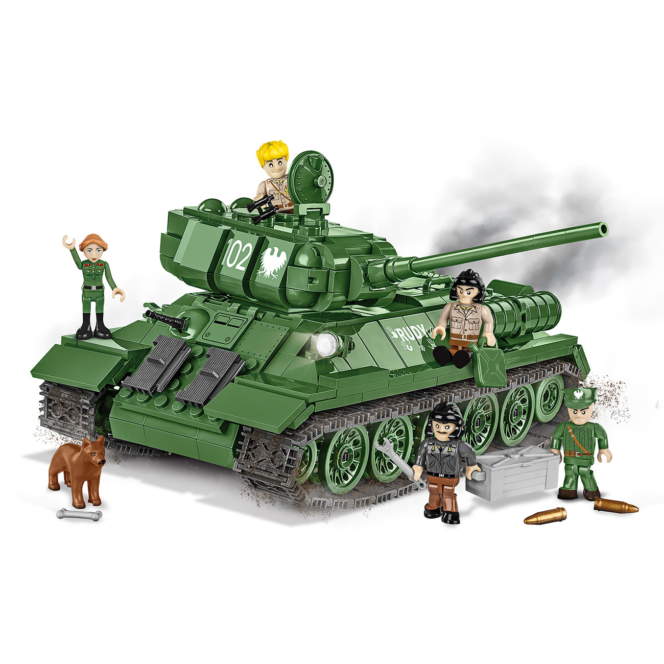 Cobi Small Army Collection Bausatz Panzer T34-85 Rudy 102 530 Teile 2524 Limited Edition 0