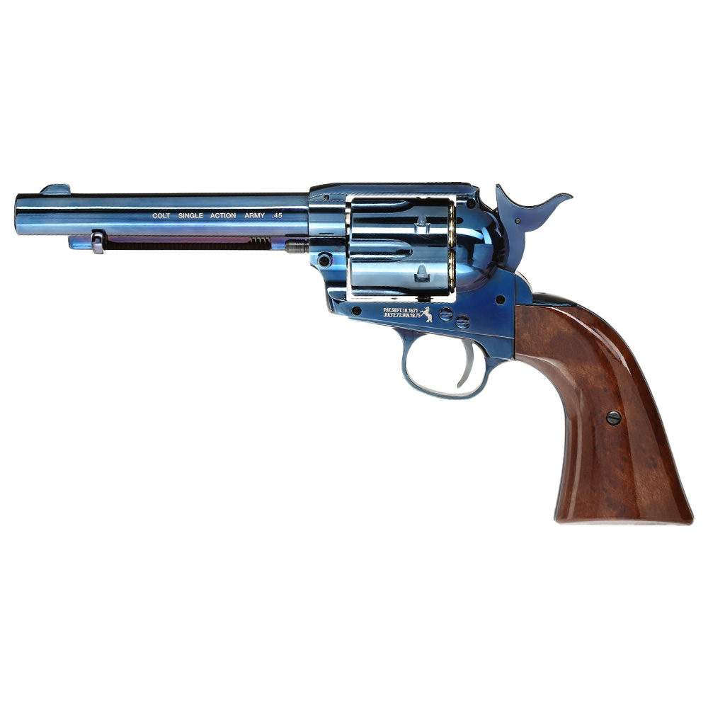 Colt Single Action Army 45 blue CO2 Revolver 4,5mm BB 0