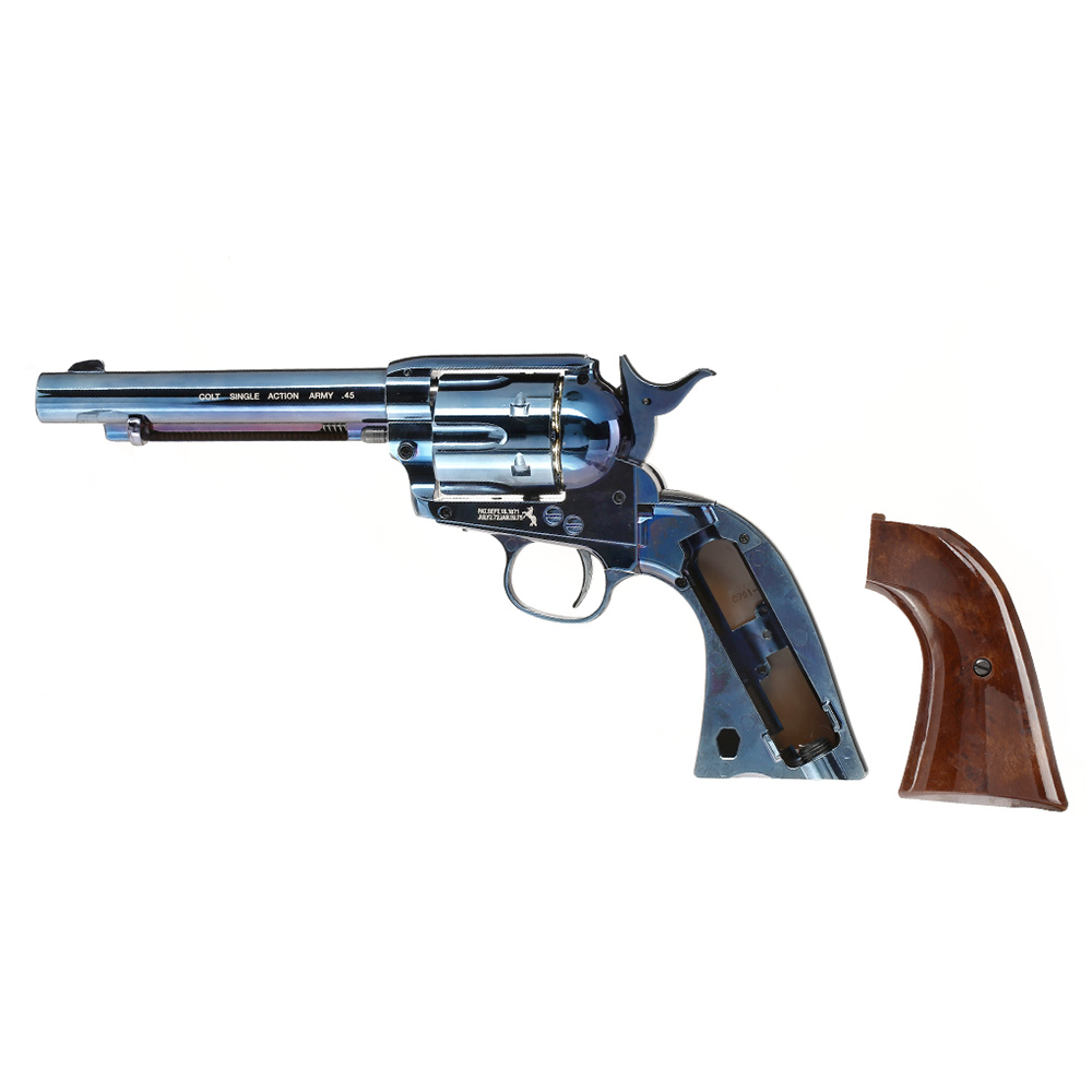Colt Single Action Army 45 blue CO2 Revolver 4,5mm BB 6
