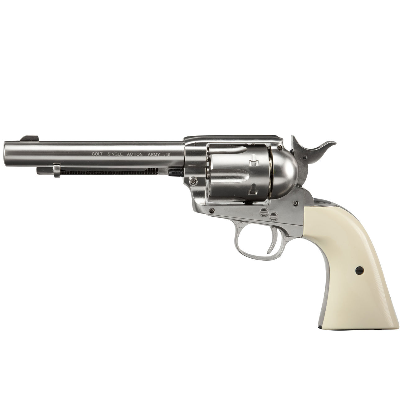 Colt Single Action Army 45 nickel CO2 Revolver 4,5 mm BB Komplettset 1