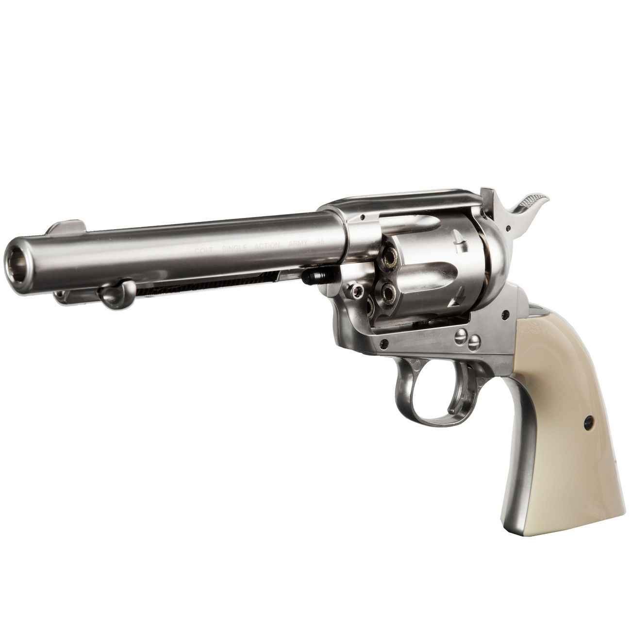 Colt Single Action Army 45 nickel CO2 Revolver 4,5 mm BB Komplettset 2