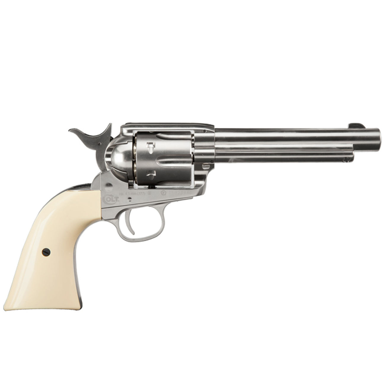 Colt Single Action Army 45 nickel CO2 Revolver 4,5 mm BB Komplettset 3
