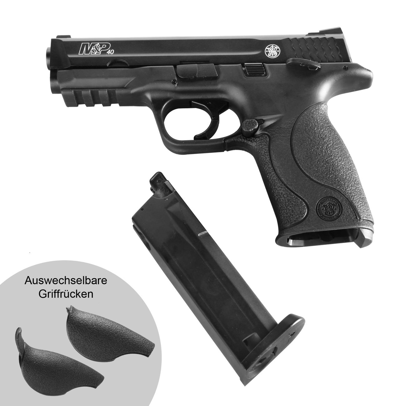 Smith & Wesson M&P40 TS CO2 Luftpistole Blow Back 4,5mm Stahl BB brüniert 4