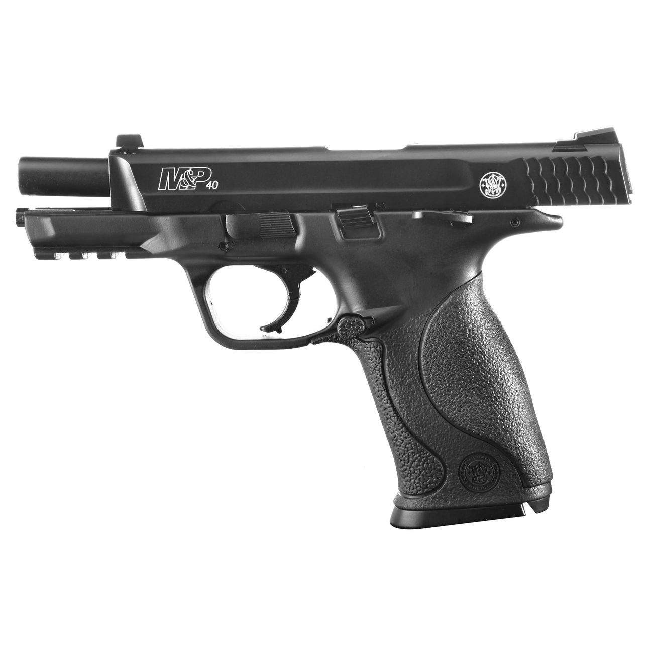 Smith & Wesson M&P40 TS CO2 Luftpistole Blow Back 4,5mm Stahl BB brüniert 5