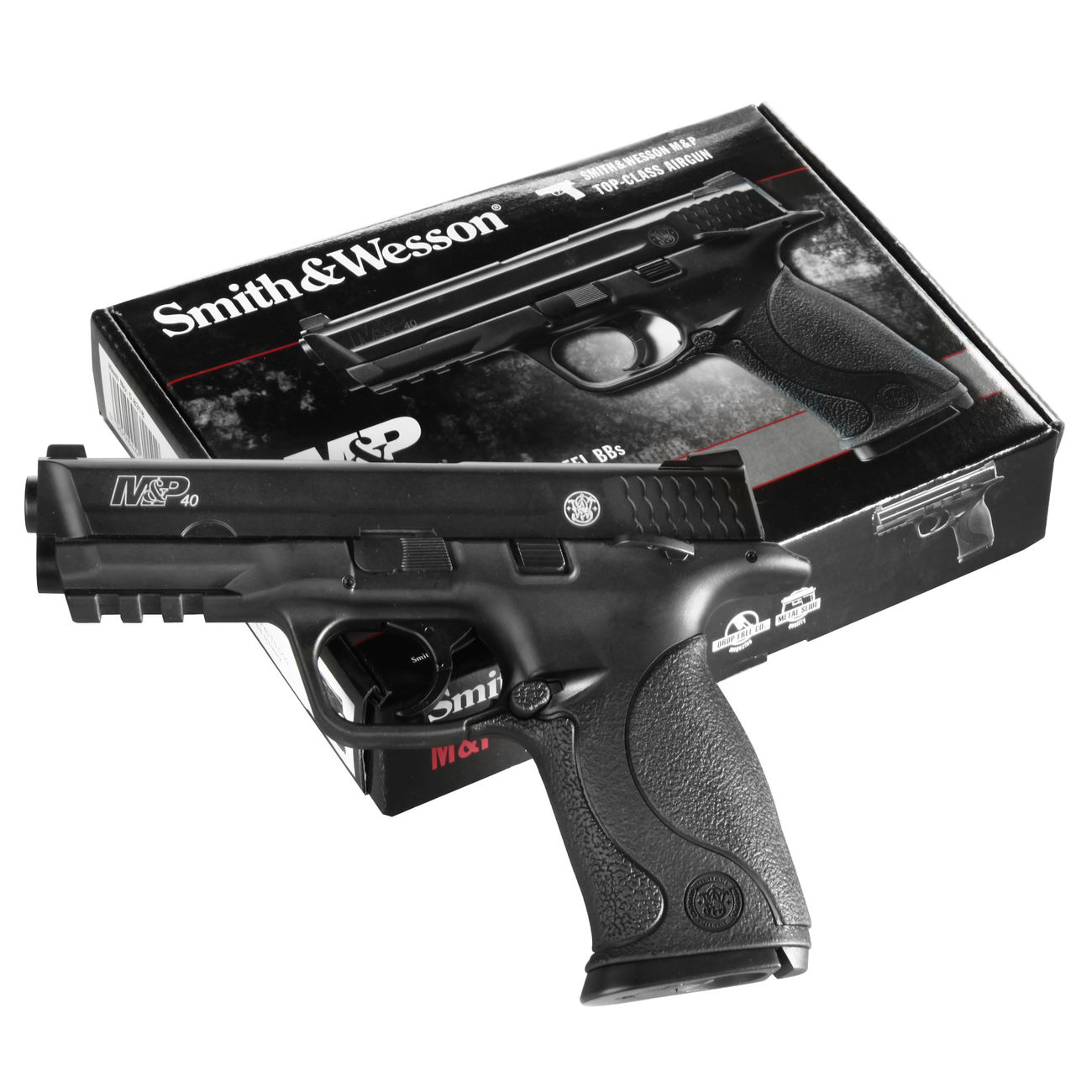 Smith & Wesson M&P40 TS CO2 Luftpistole Blow Back 4,5mm Stahl BB brüniert 6