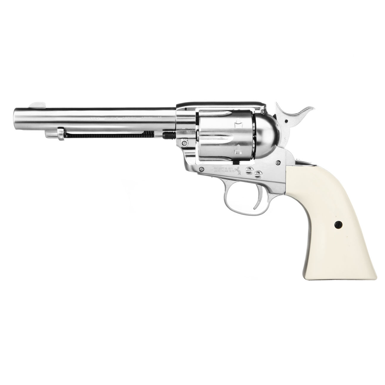 Colt Single Action Army 45 nickel CO2 Revolver Kal. 4,5mm Diabolo gezogener Lauf 0