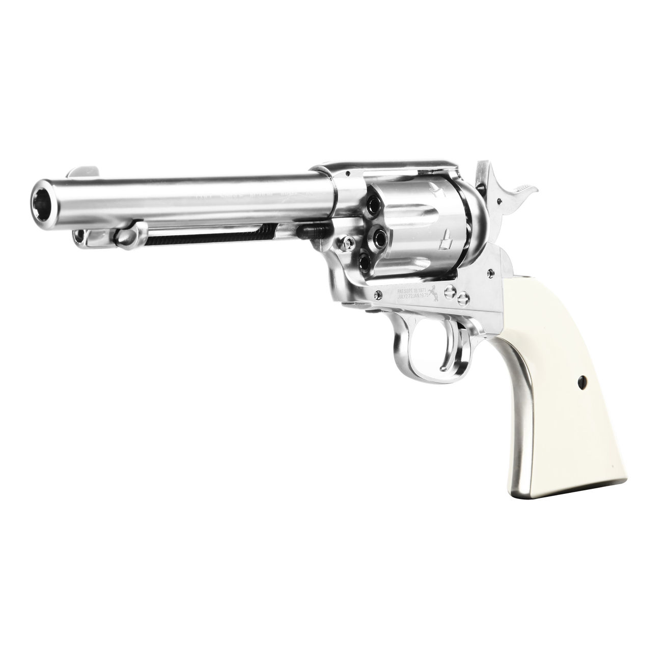 Colt Single Action Army 45 nickel CO2 Revolver Kal. 4,5mm Diabolo gezogener Lauf 1