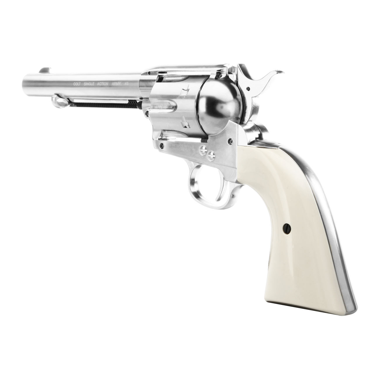 Colt Single Action Army 45 nickel CO2 Revolver Kal. 4,5mm Diabolo gezogener Lauf 3