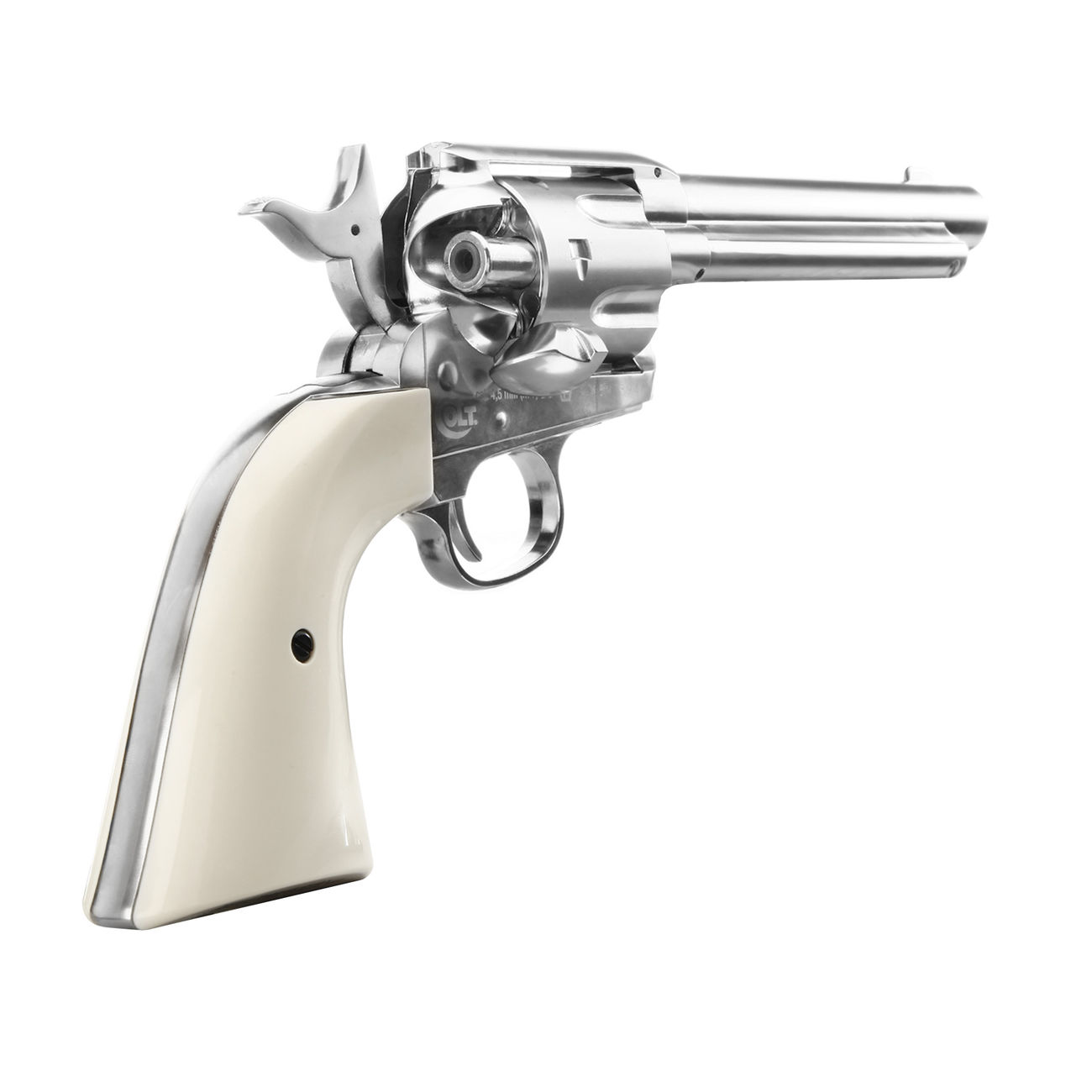 Colt Single Action Army 45 nickel CO2 Revolver Kal. 4,5mm Diabolo gezogener Lauf 4