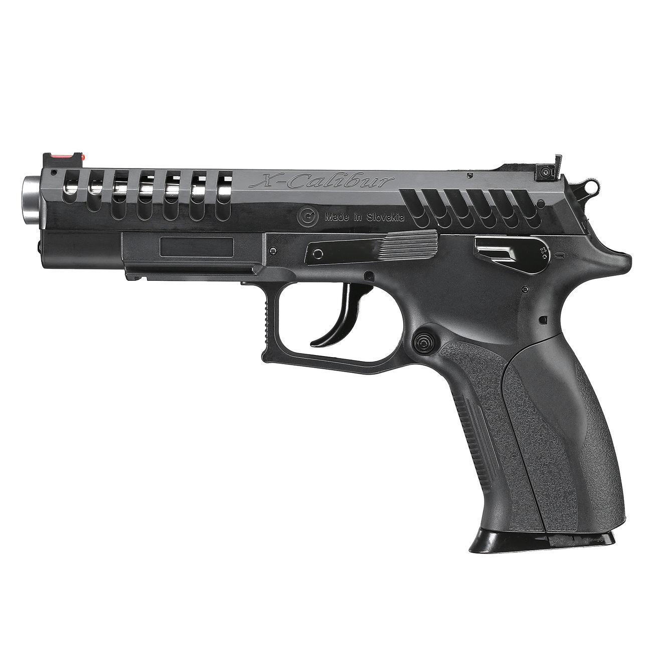Grandpower X-Calibur CO2 Luftpistole BB Kal  4,5mm Stahl BBs schwarz