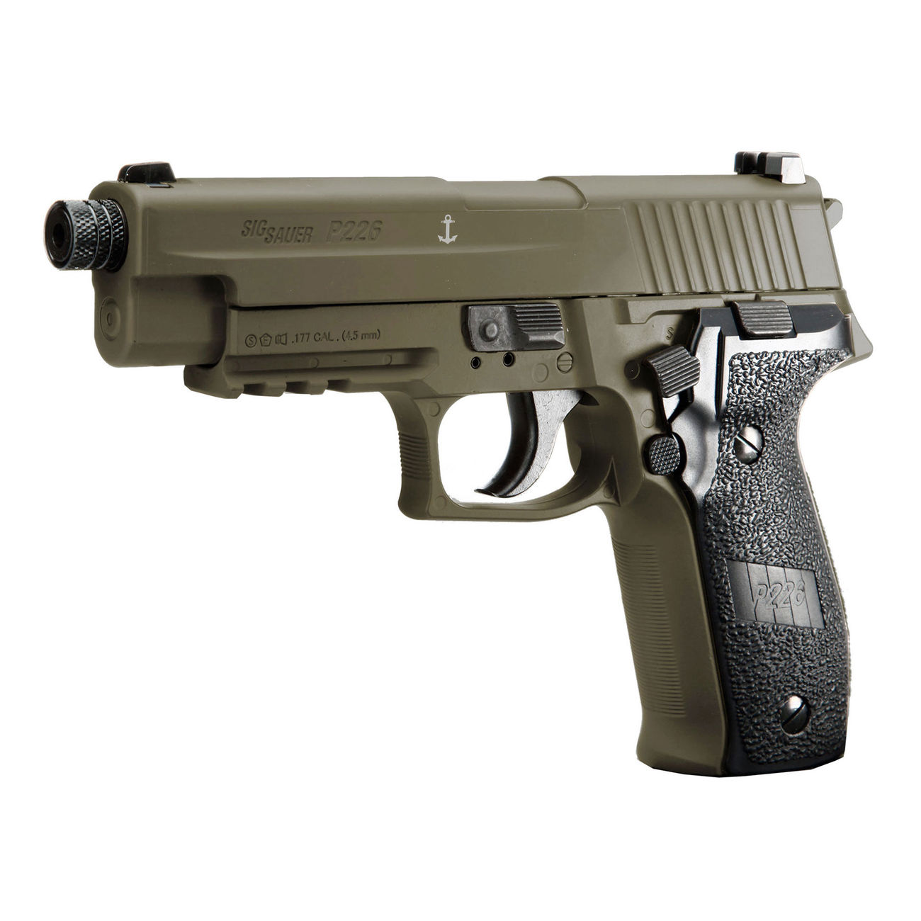 Sig Sauer P226 CO2 Luftpistole Kal. 4,5mm Diabolo BB Blow Back dark earth 1