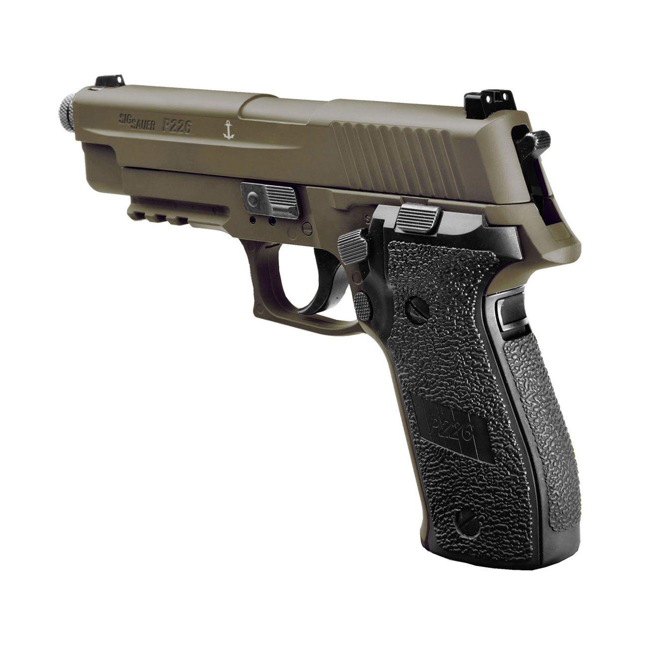 Sig Sauer P226 CO2 Luftpistole Kal. 4,5mm Diabolo BB Blow Back dark earth 2
