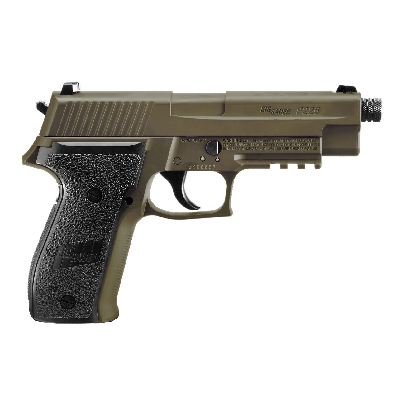 Sig Sauer P226 CO2 Luftpistole Kal. 4,5mm Diabolo BB Blow Back dark earth 3