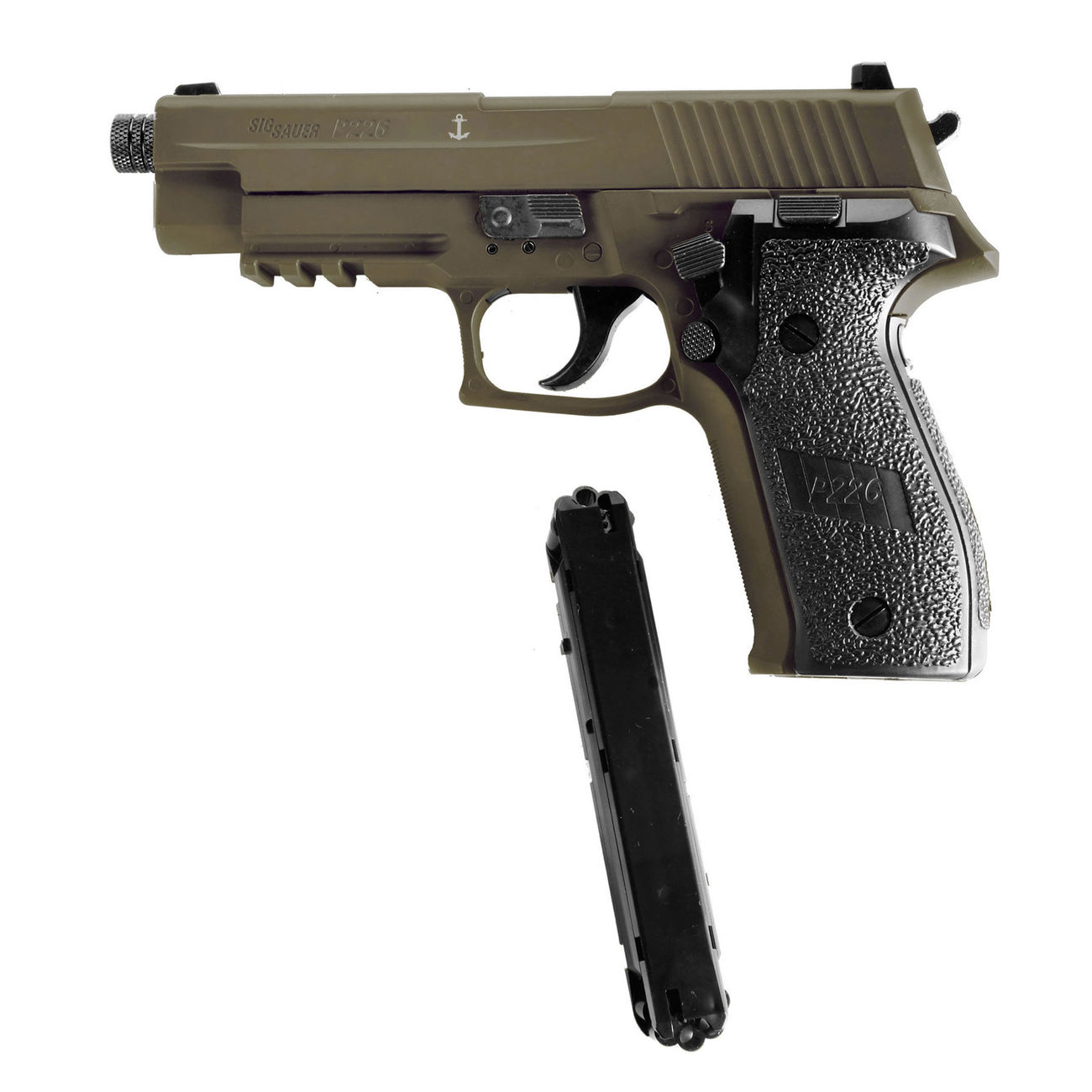 Sig Sauer P226 CO2 Luftpistole Kal. 4,5mm Diabolo BB Blow Back dark earth 4