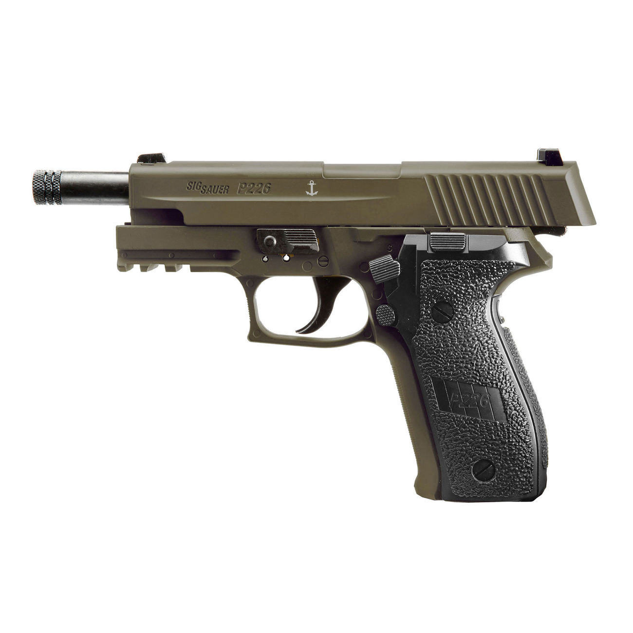 Sig Sauer P226 CO2 Luftpistole Kal. 4,5mm Diabolo BB Blow Back dark earth 5