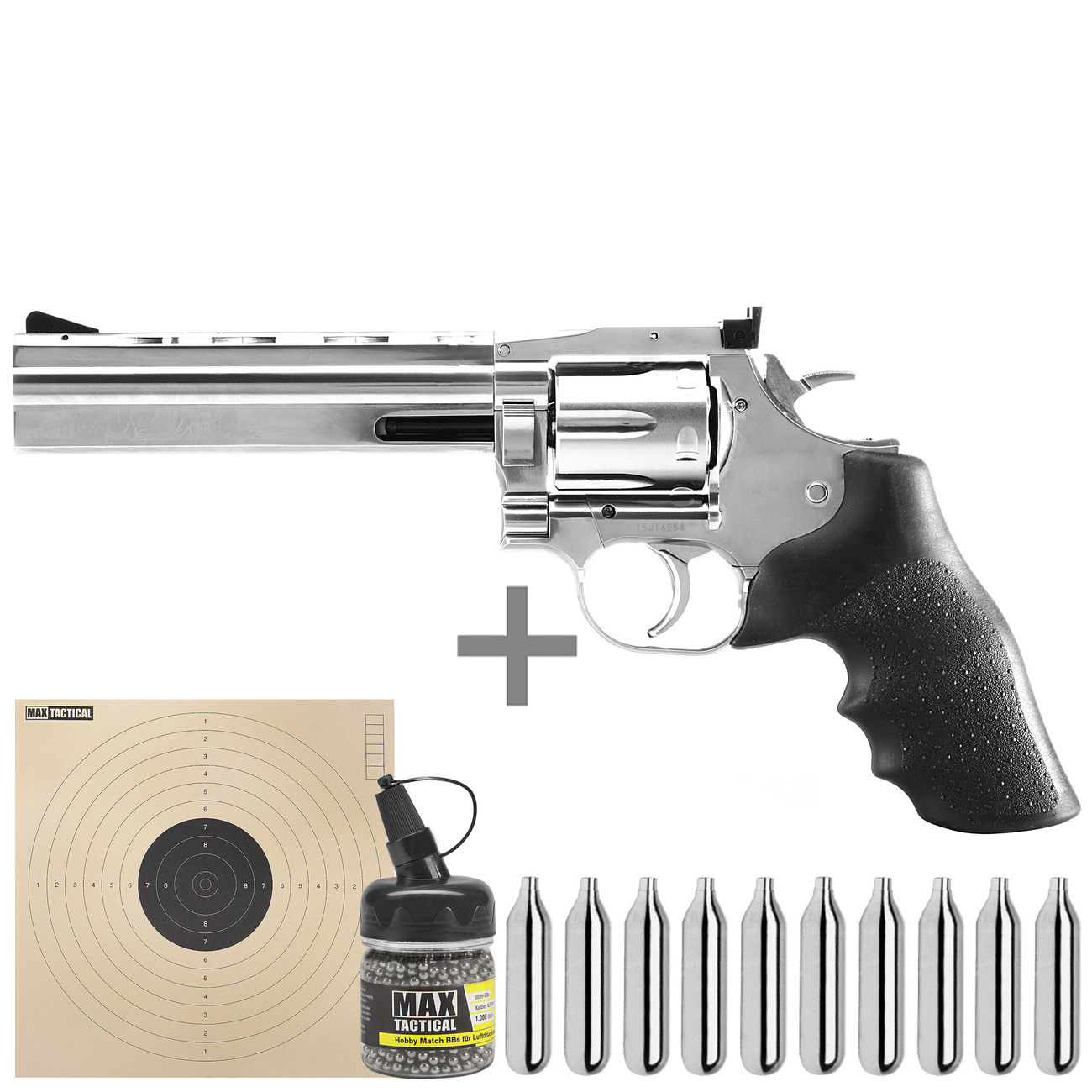 ASG Dan Wesson 715 CO2 Revolver 6 Zoll Kal. 4,5mm BB Starterset 0