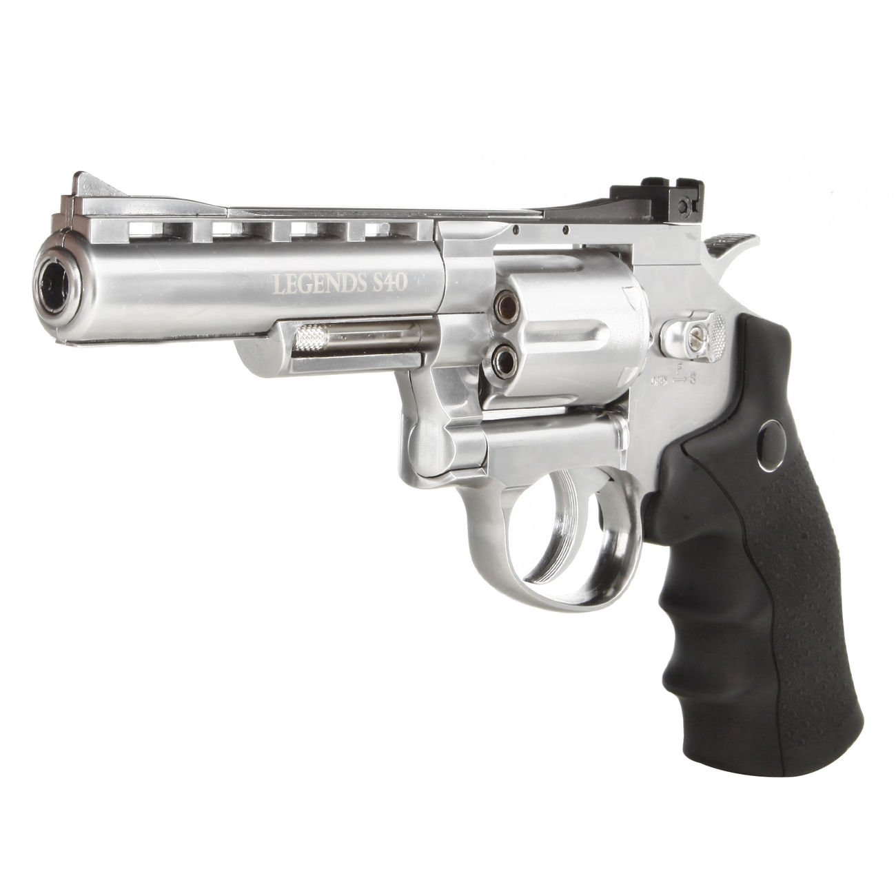 Legends S40 CO2 Revolver 4 Zoll Kal. 4,5mm Diabolo chrom Vollmetall 1