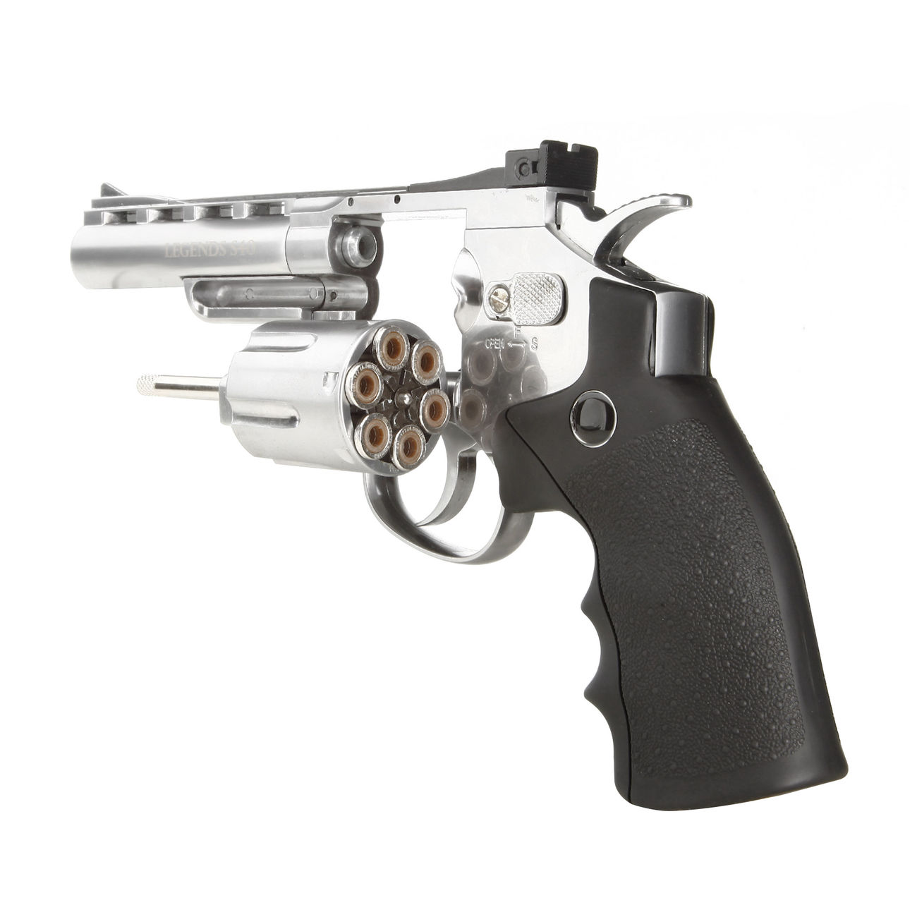 Legends S40 CO2 Revolver 4 Zoll Kal. 4,5mm Diabolo chrom Vollmetall 3