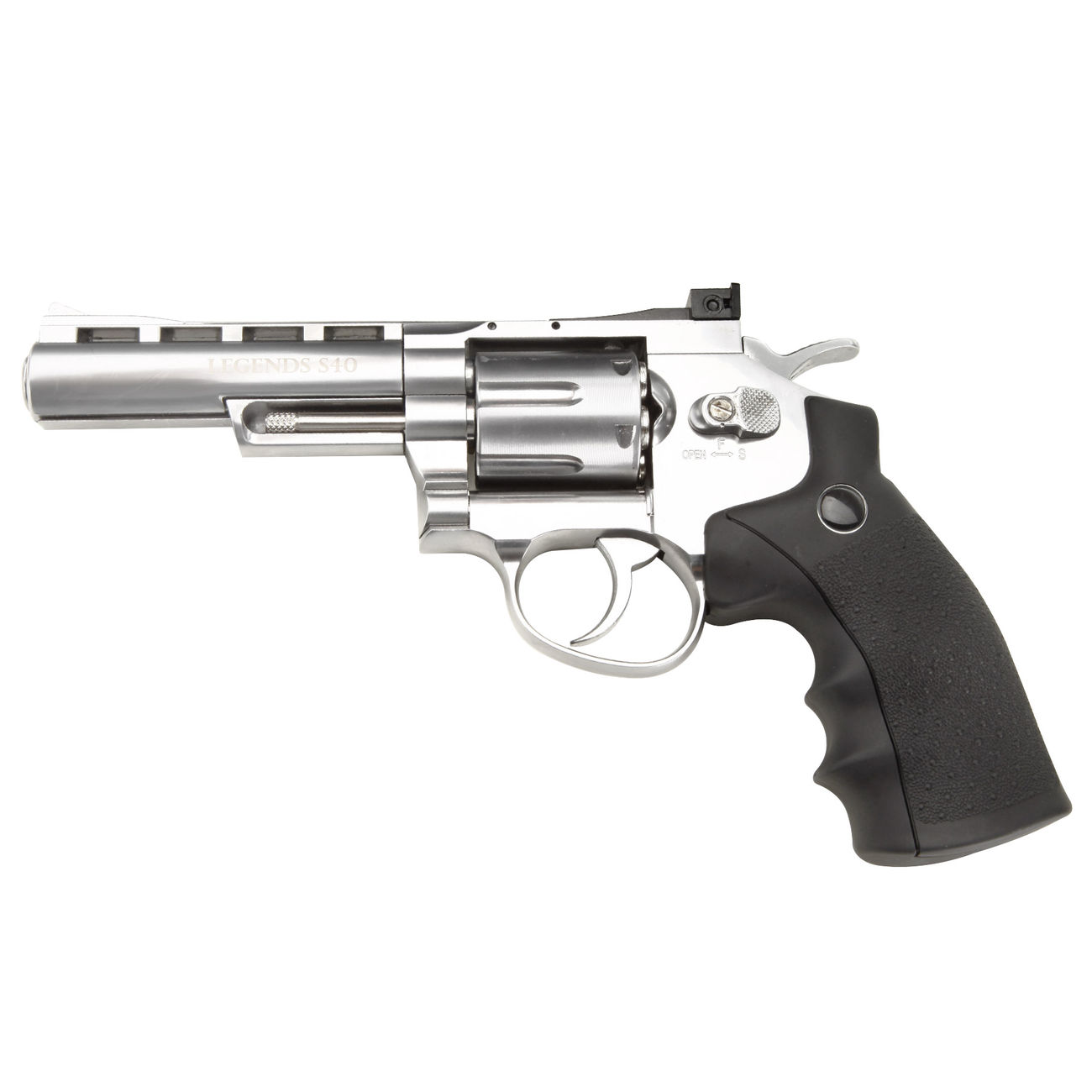 Legends S40 CO2 Revolver 4 Zoll Kal. 4,5mm Diabolo chrom Vollmetall 5