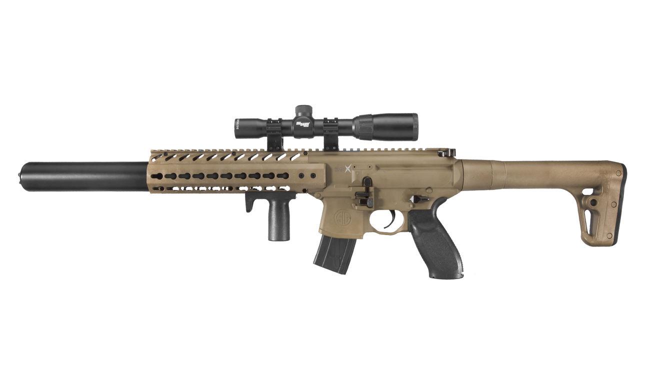 Sig sauer mcx co2 luftgewehr 4 5mm diabolo dark earth inkl