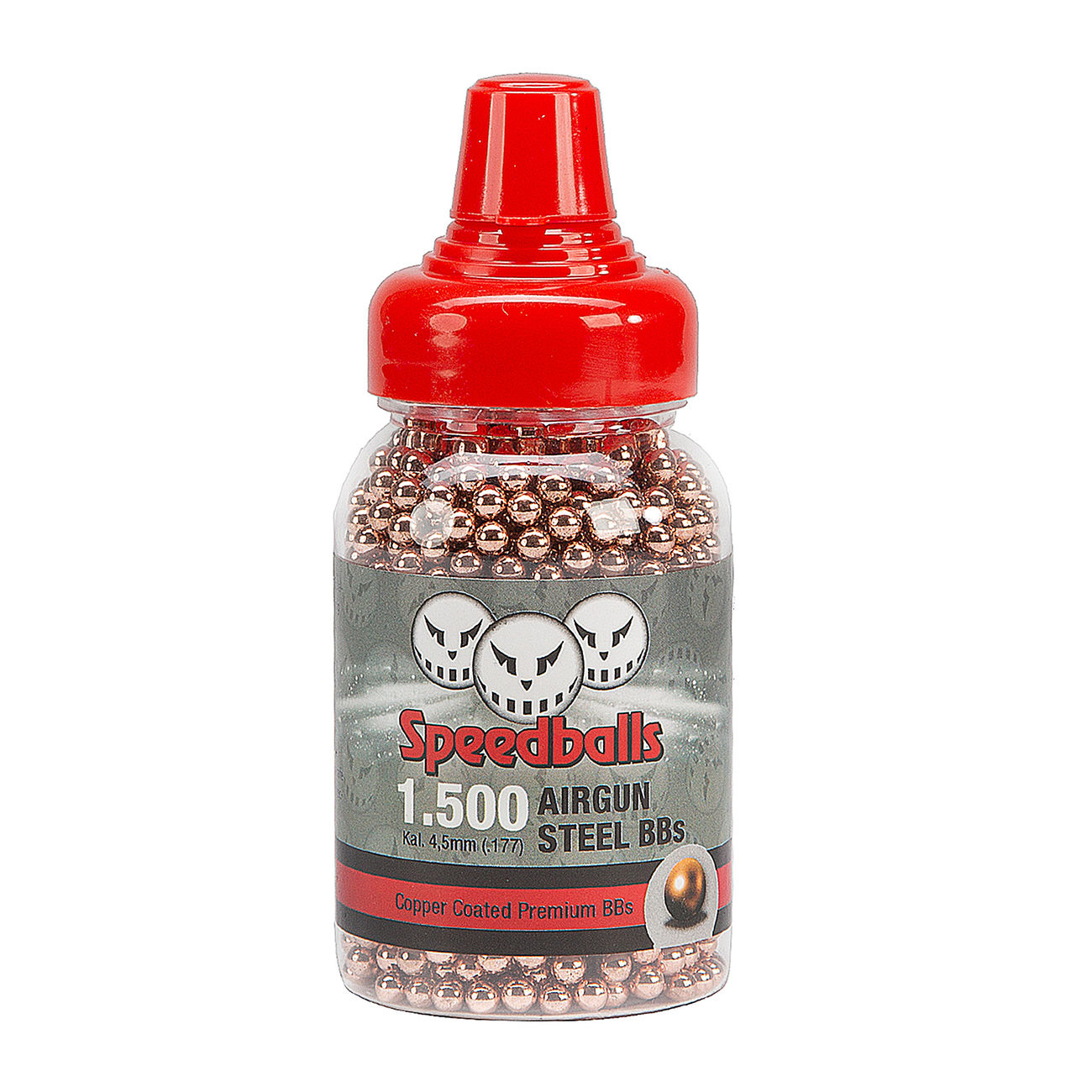 Speedballs Copper Coated Premium Steel-BBs Kal. 4,5 mm 1500 Schuss 0