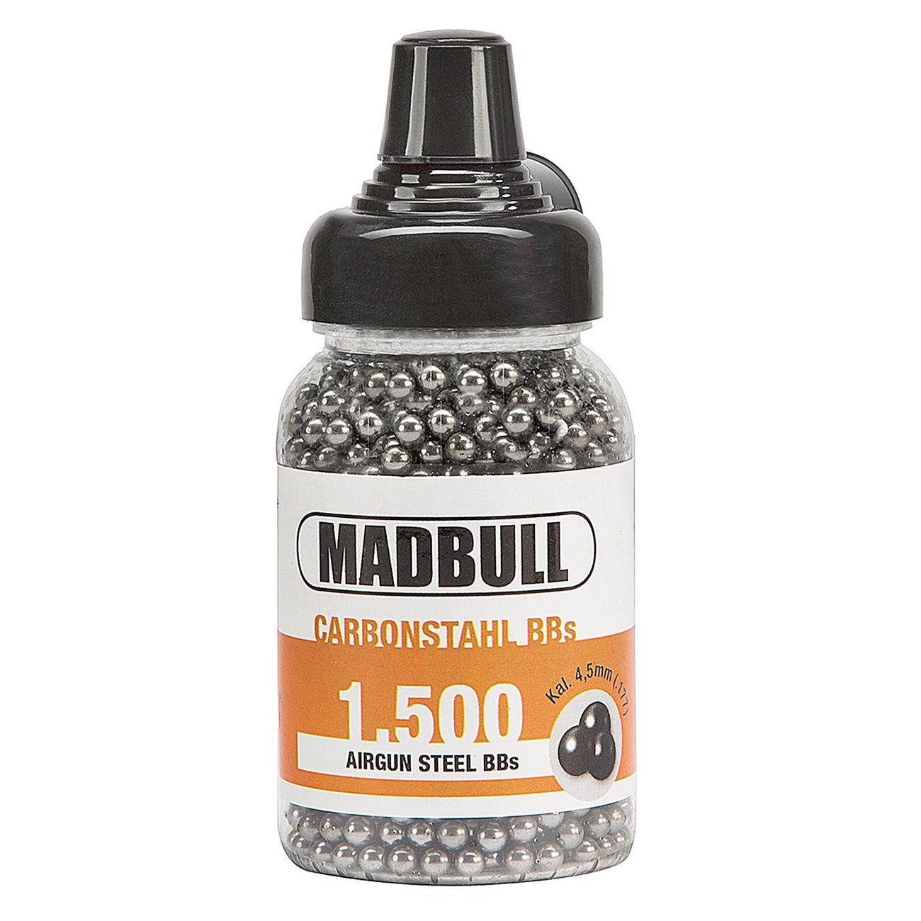 madbull stahlrundkugeln kal 4 5 mm bb 1500er schnelllader g nstig kaufen kotte zeller. Black Bedroom Furniture Sets. Home Design Ideas