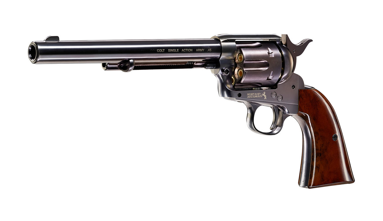Colt Single Action Army 45 Co2-Revolver blue 7,5 Zoll Lauflänge Kal. 4,5 mm BB 1