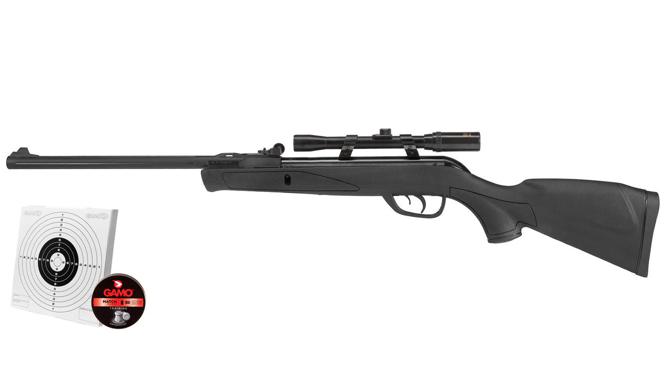 Gamo delta luftgewehr knicklauf kal mm diabolo komplettset