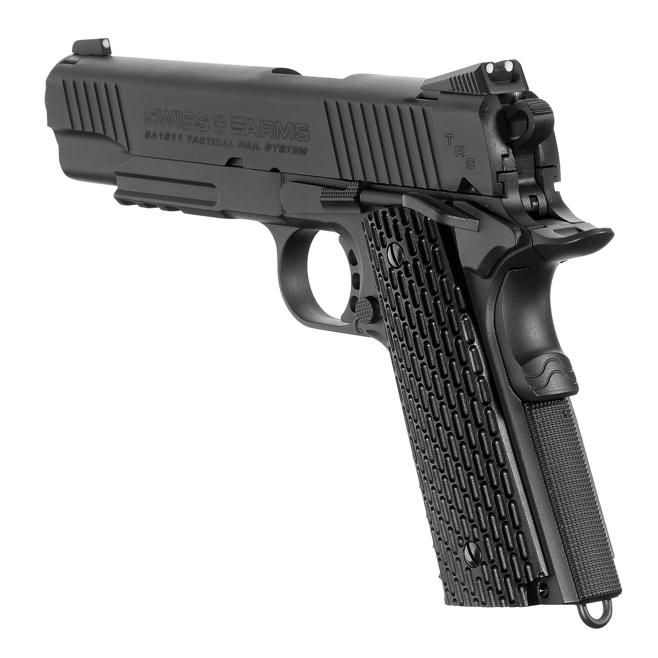 Swiss Arms SA 1911 TRS CO2 Luftpistole Kal. 4,5 mm BB schwarz Vollmetall 3