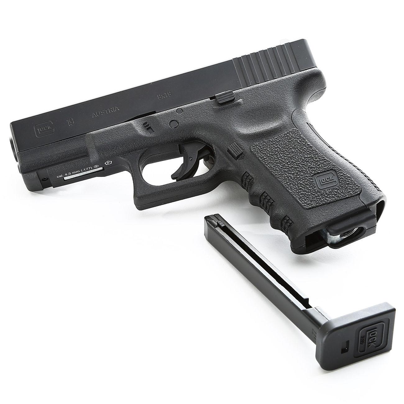 umarex glock 19 co2 luftpistole kal 4 5 mm bb schwarz. Black Bedroom Furniture Sets. Home Design Ideas