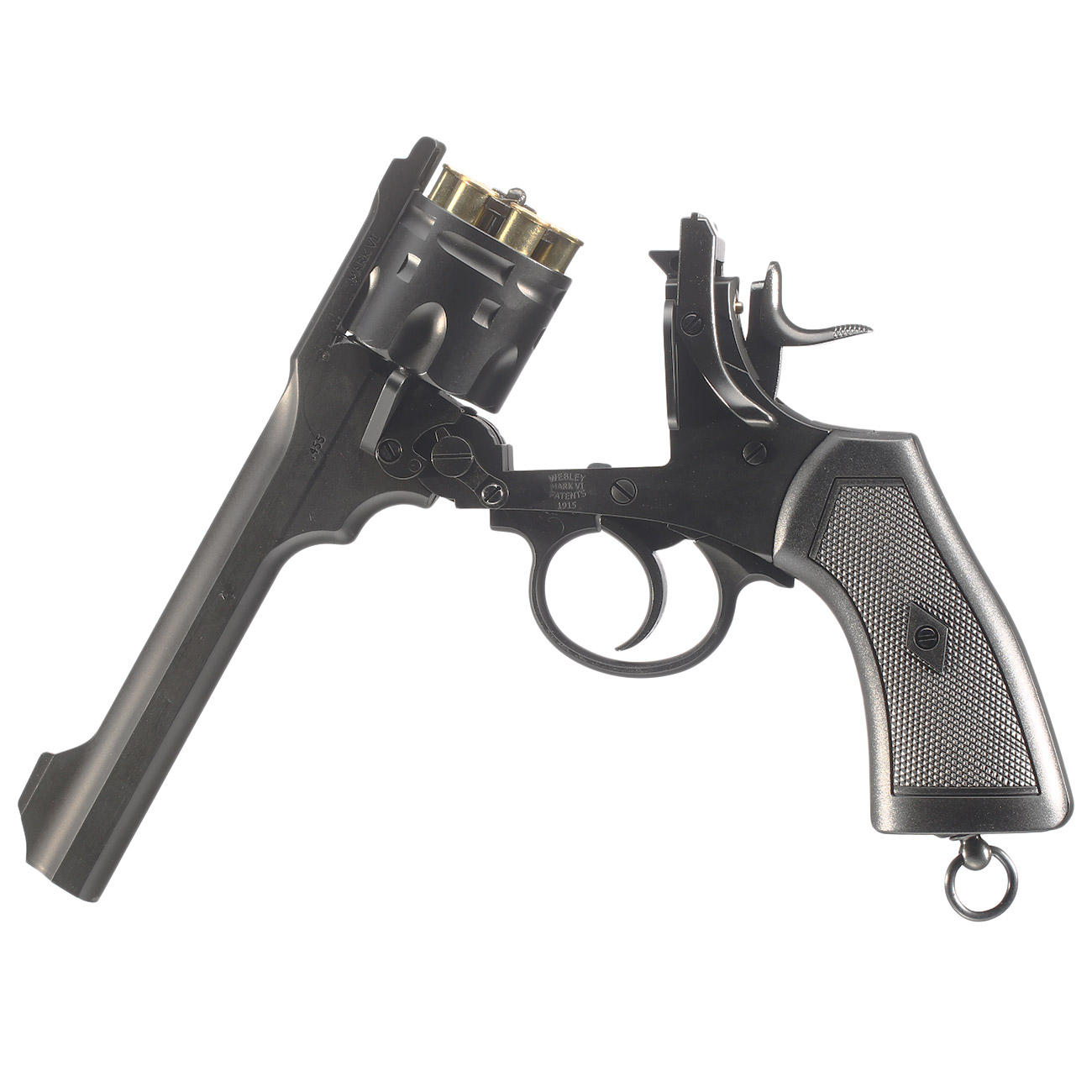Webley MKVI CO2 Revolver Kal  4,5mm BB inkl  Holster, Stahl-BBs und  Schießspiel
