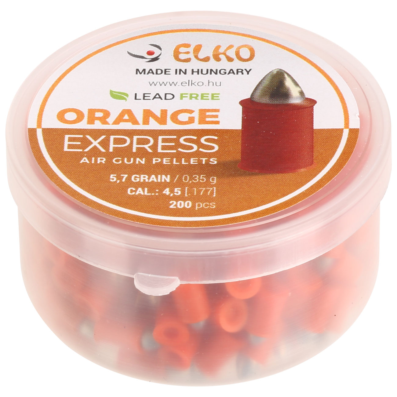 Elko Spitzkopf-Diabolos Orange Express Kal. 4,5 mm 200er Dose 1