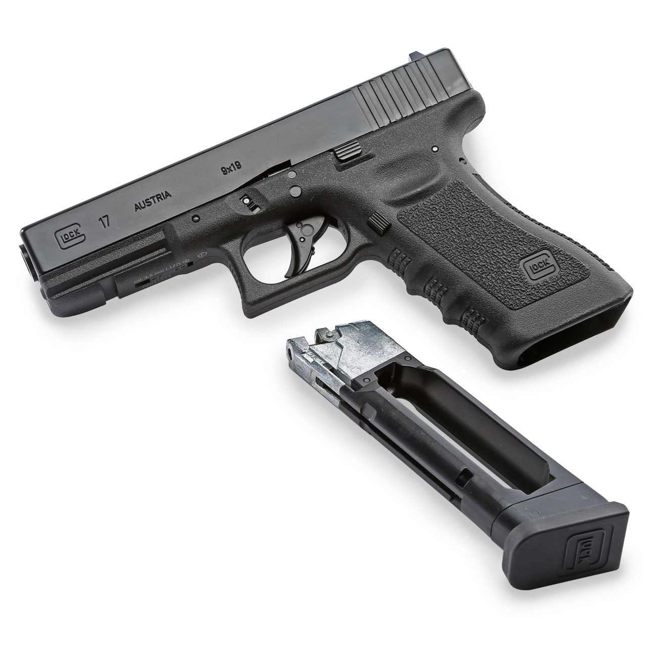Glock 17 CO2 Luftpistole Kal. 4,5 mm BB 6